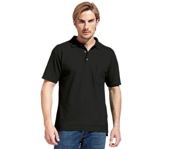 Poloshirt Premium mit Brusttasche schwarz