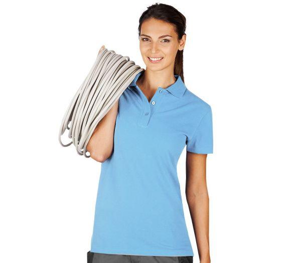 Damen Polo-Shirt hellblau