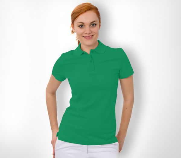 Damen Polo-Shirt Baumwolle hellgrün