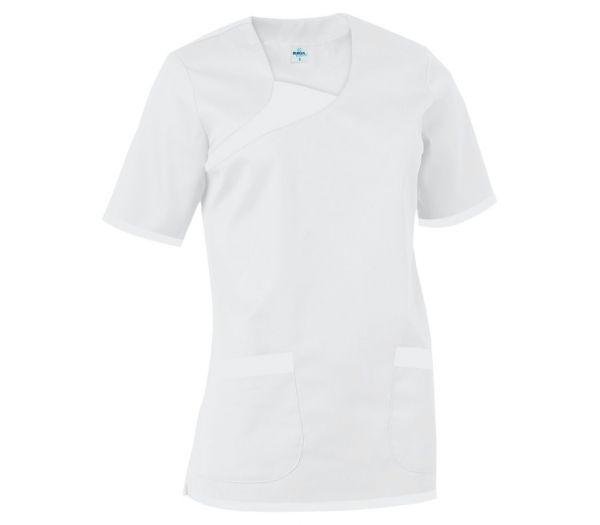 Damen Schlupfkasack Mischgewebe weiß/weiß