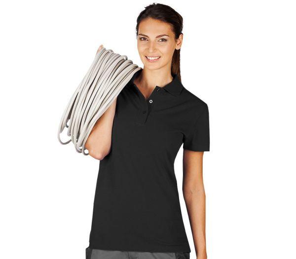 Damen Polo-Shirt schwarz