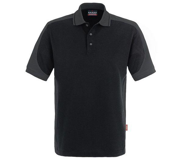 Hakro Poloshirt Performance Contrast schwarz/anthrazit