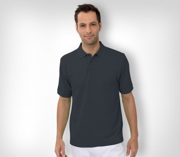Herren Polo-Shirt Baumwolle anthrazit