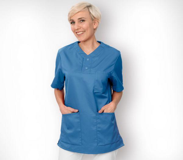 Schlupfkasack für Sie & Ihn Mischgewebe azurblau