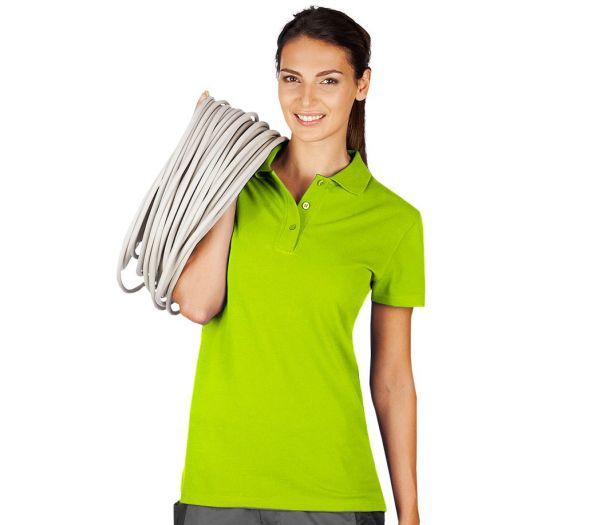 Damen Polo-Shirt limette