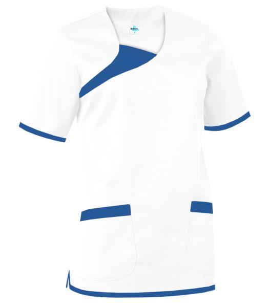 Damen Schlupfkasack weiß/blau