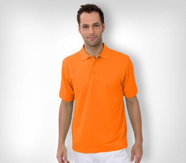 Herren Polo-Shirt Baumwolle orange