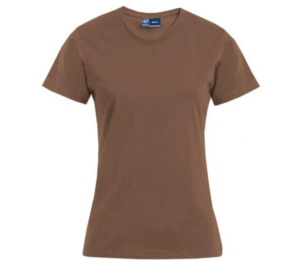 Damen T-Shirt Premium braun