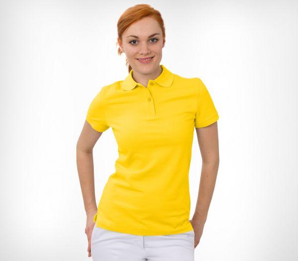 Damen Polo-Shirt Baumwolle gelb