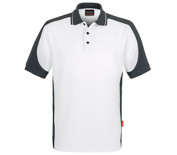 Hakro Poloshirt Performance Contrast weiß/anthrazit