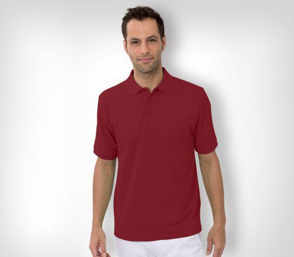 Herren Polo-Shirt Baumwolle bordeaux