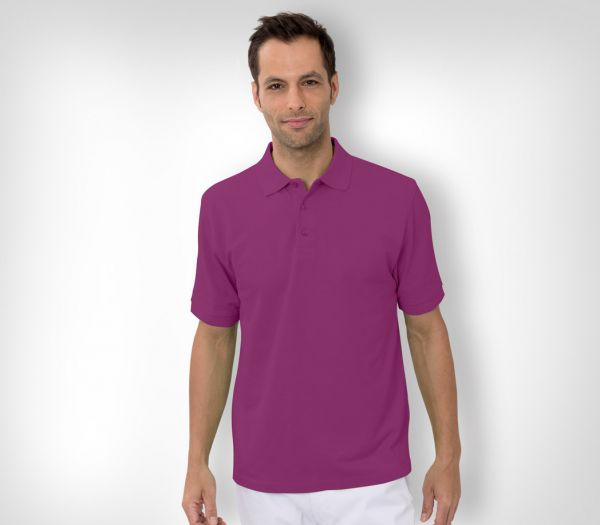 Herren Polo-Shirt Baumwolle lila