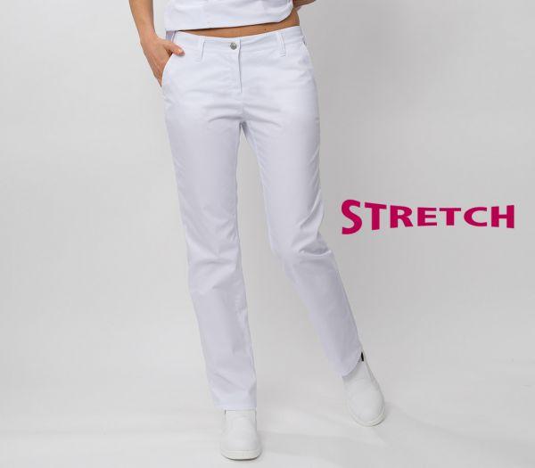 Damen Hose STRETCH weiß