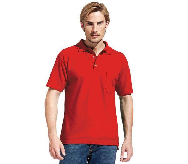 Poloshirt Premium mit Brusttasche rot