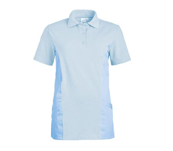 Polo-Schlupfkasack für Sie & Ihn Mischgewebe hellblau