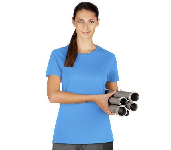 Damen T-Shirt Premium azurblau