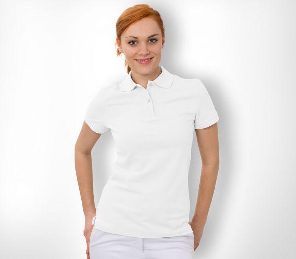 Damen Polo-Shirt Baumwolle weiß