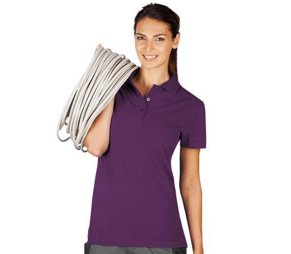 Damen Polo-Shirt bordeux