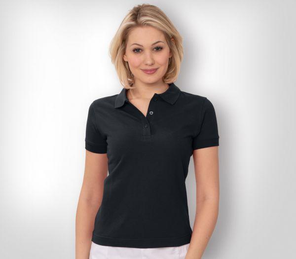 Damen Polo-Shirt Mischgewebe schwarz