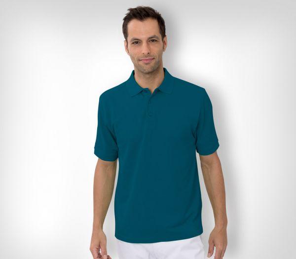Herren Polo-Shirt Baumwolle petrol