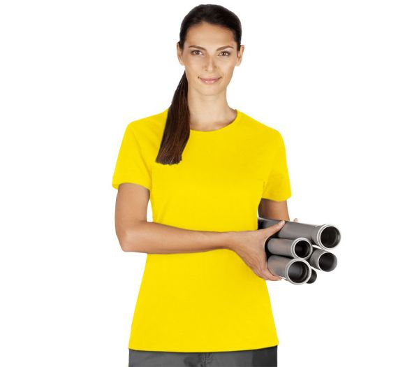 Damen T-Shirt Premium gelb