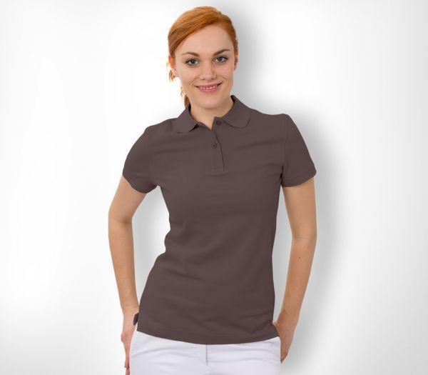 Damen Polo-Shirt Baumwolle braun