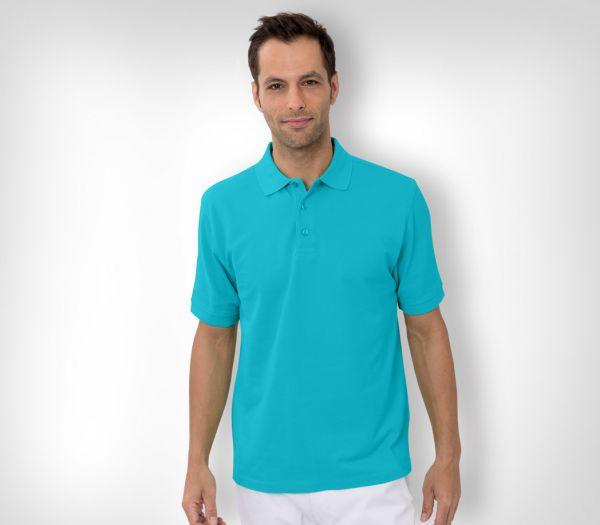 Herren Polo-Shirt Baumwolle türkis