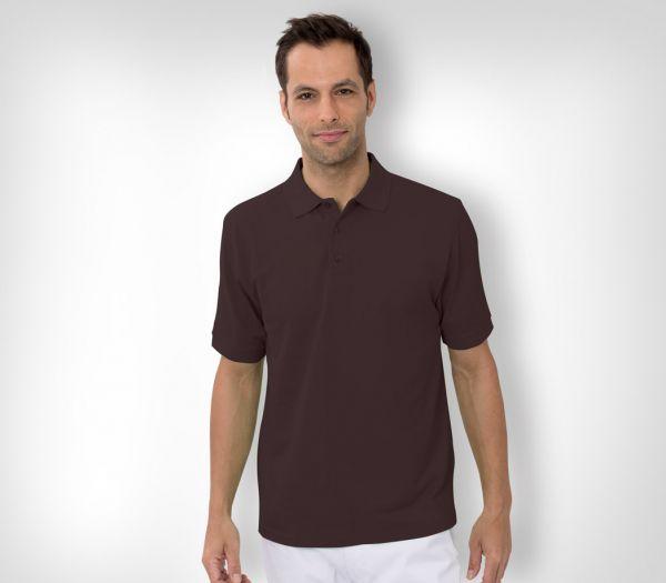Herren Polo-Shirt Baumwolle braun