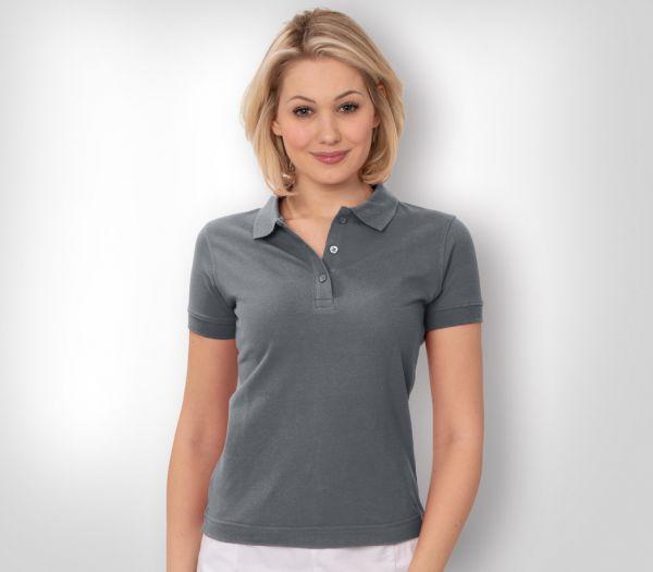 Damen Polo-Shirt Mischgewebe anthrazit