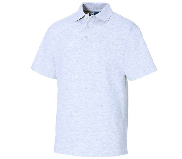 Poloshirt Premium hellgrau meliert