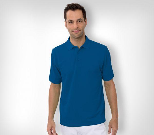 Herren Polo-Shirt Baumwolle kornblau