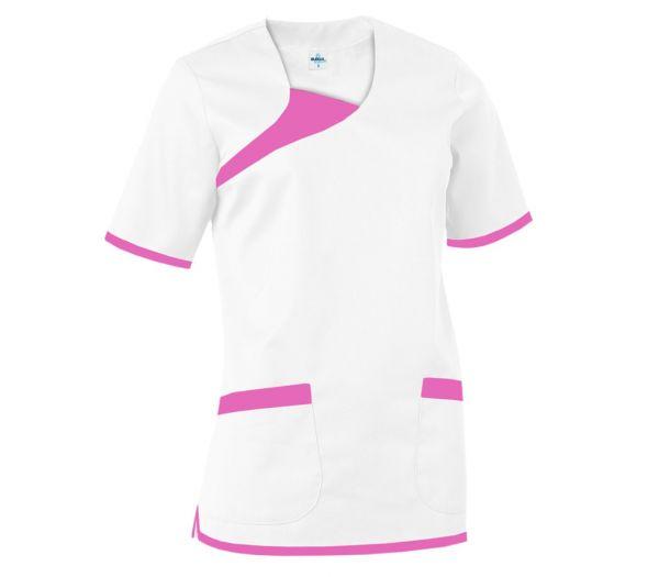Damen Schlupfkasack weiß/rosa