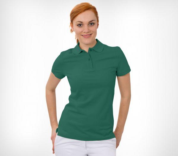 Damen Polo-Shirt Baumwolle grün