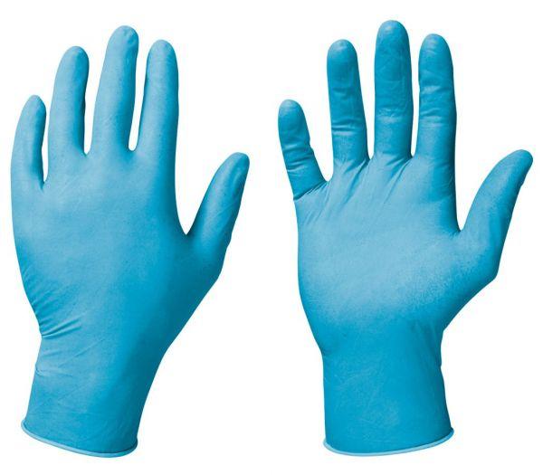 Einmalhandchuhe Nitril blau