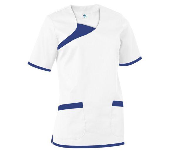 Damen Schlupfkasack weiß/marine