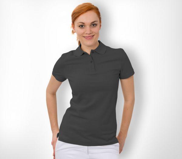 Damen Polo-Shirt Baumwolle schwarz