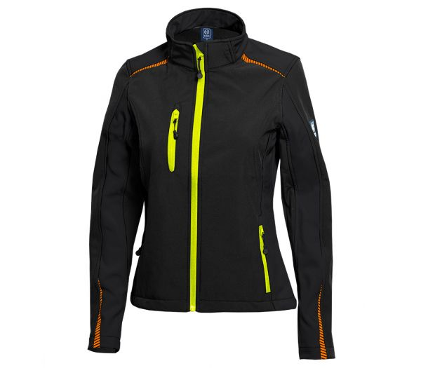 Damen Softshelljacke BS One schwarz/orange/gelb