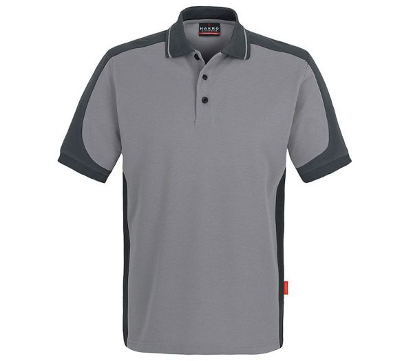 Hakro Poloshirt Performance Contrast grau/anthrazit